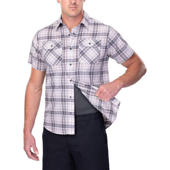 Vertx Short Sleeve Guardian Shirt in plaid with concealed carry function