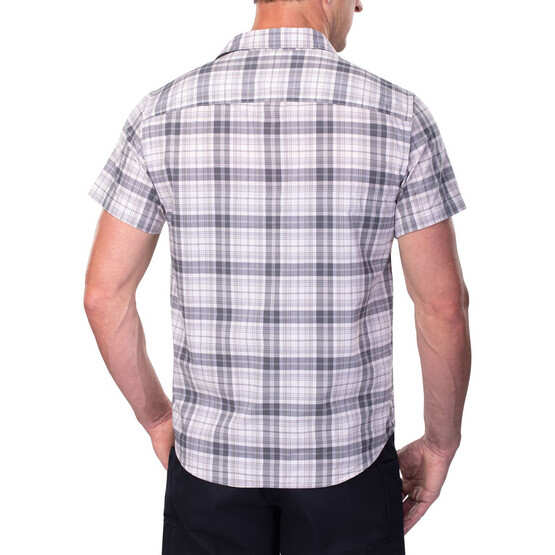 Vertx Short Sleeve Guardian Shirt in steel plaid from the back