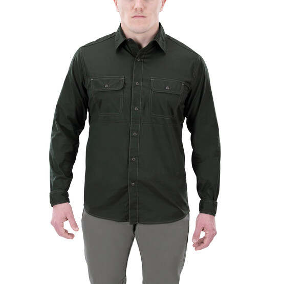 Vertx Guardian 2.0 Long Sleeve Shirt in rudder green from front