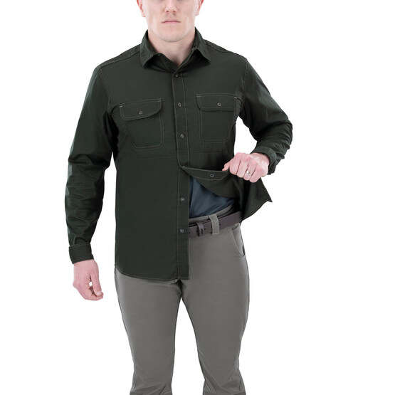 Vertx Guardian 2.0 Long Sleeve Shirt in rudder green with concealed carry function