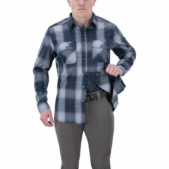 Vertx Guardian 2.0 Long Sleeve Shirt in blue plaid with concealed carry function