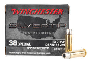 Winchester USA 38 Special ammo is loaded with a hollow point bullet