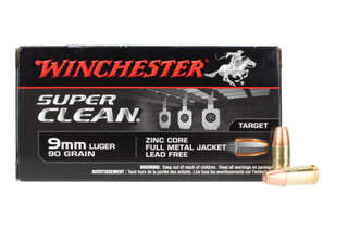 Wicnhester Super Clean 9mm FMJ features a 90 grain bullet