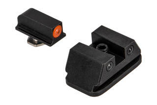 Night Fission Glow Dome Walther PPQ night sight set features a square rear and orange front