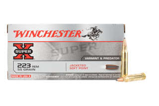 Winchester Super X 223 Rem ammo features a pointed soft point bullet