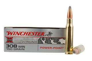 Winchester Super-X 308 Win 150gr Power Point Ammo with alloyed lead core