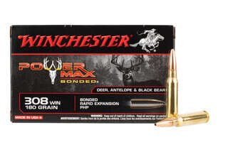 Winchester Power Max Bonded 308 ammo features a hollow point bullet