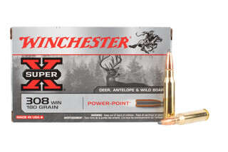 308 winchester super x ammo features a soft point bullet