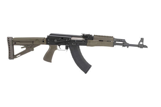 Zastava M70 ZPAP AK-47 with chrome lined 7.62x39mm barrel features a bulged trunion and olive drab polymer furniture