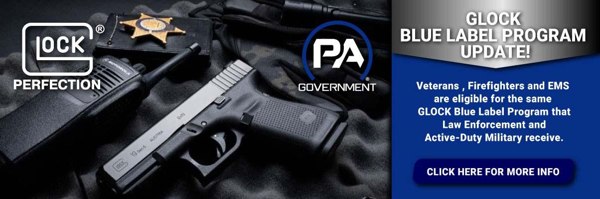 PA Government GLOCK Blue Label Program