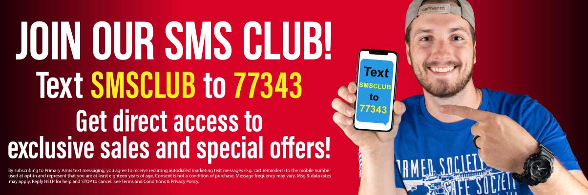 JOIN OUR SMS CLUB!